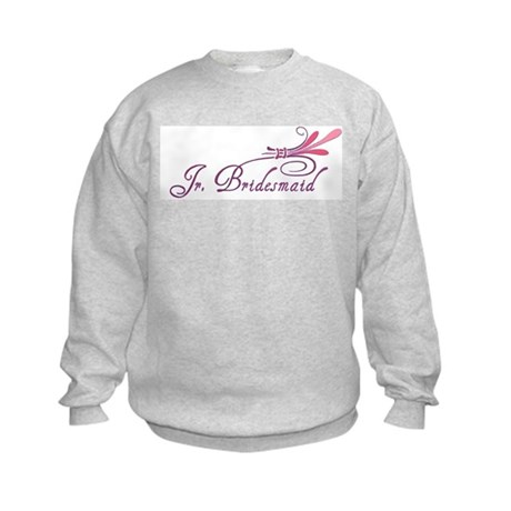 Pink/Purple Deco Jr. Bridesmaid Kids Sweatshirt
