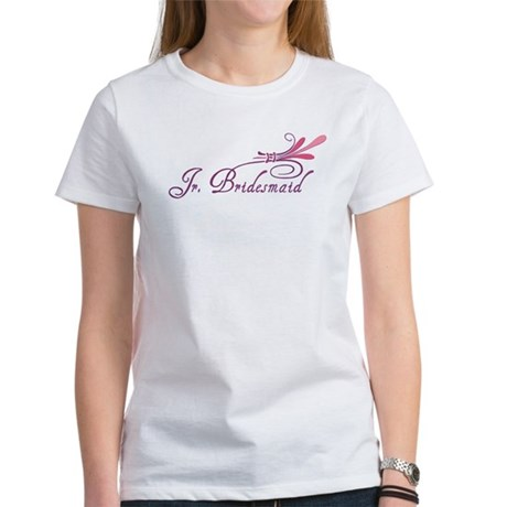 Pink/Purple Deco Jr. Bridesmaid Women's T-Shirt