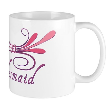 Pink/Purple Deco Jr. Bridesmaid Mug
