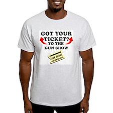 Welcome to the Gun Show Ash Grey T-Shirt