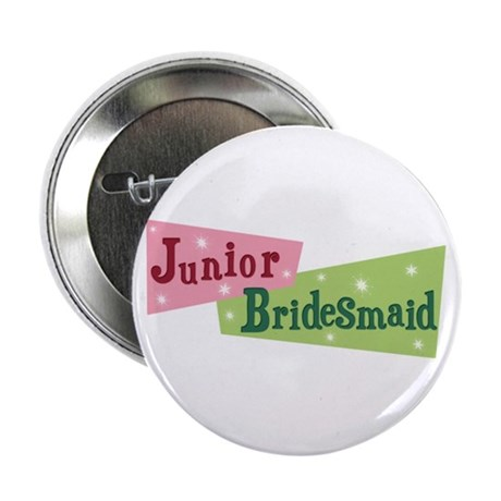 Retro Junior Bridesmaid Button