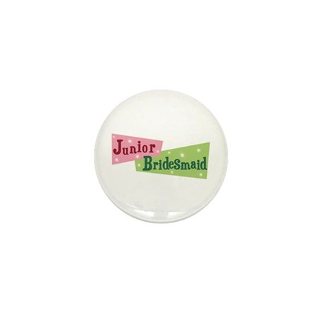 Retro Junior Bridesmaid Mini Button
