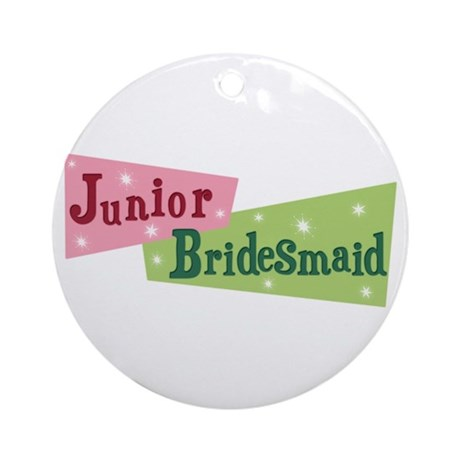 Retro Junior Bridesmaid Ornament (Round)