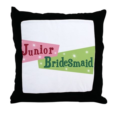 Retro Junior Bridesmaid Throw Pillow