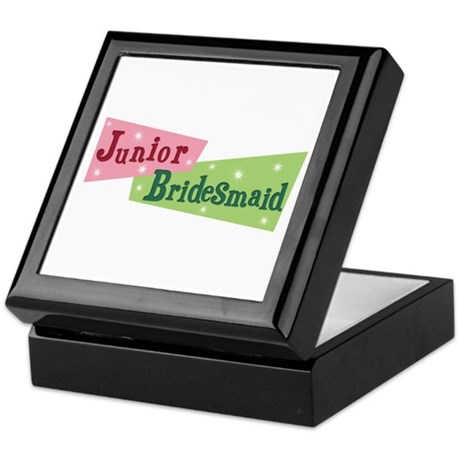 Retro Junior Bridesmaid Keepsake Box