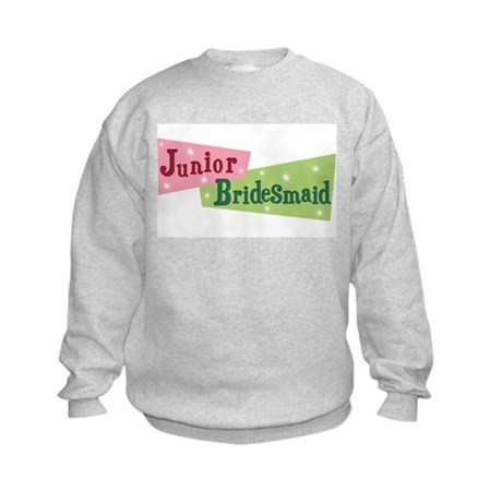 Retro Junior Bridesmaid Kids Sweatshirt
