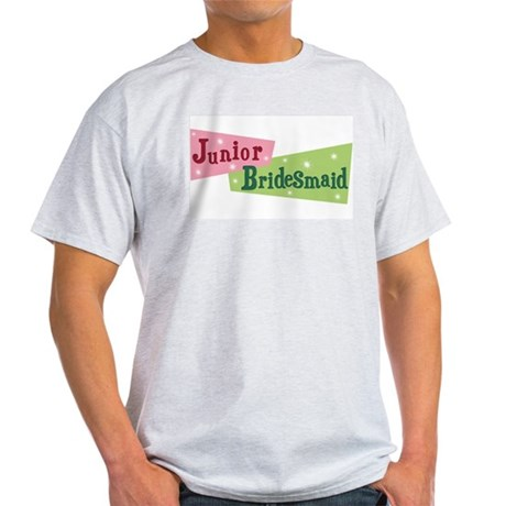 Retro Junior Bridesmaid Ash Grey T-Shirt
