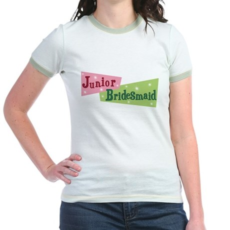 Retro Junior Bridesmaid Jr. Ringer T-Shirt