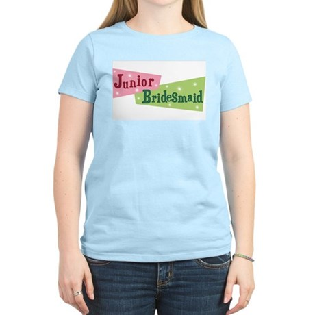 Retro Junior Bridesmaid Women's Pink T-Shirt