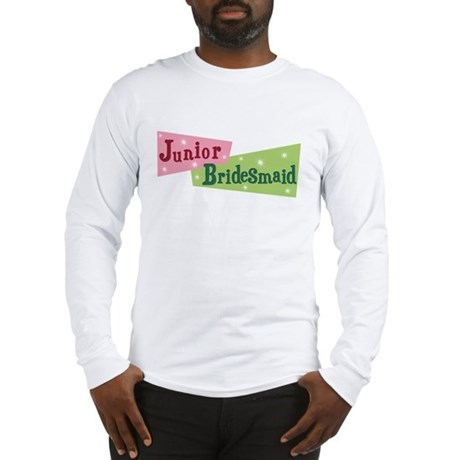 Retro Junior Bridesmaid Long Sleeve T-Shirt