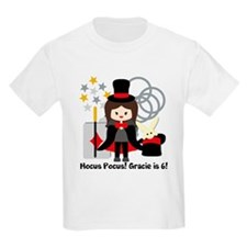 Custom Brunete Girl Magician T-Shirt