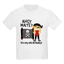 Blond Girl Pirate Custom T-Shirt
