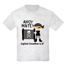 Blond Boy Pirate Customized T-Shirt