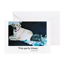 This Party Blows - Blank Inside Greeting Card