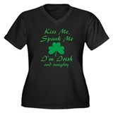 Kiss Me Spank Me I'm Irish Women's Plus Size V-Nec