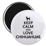 "Keep Calm Chihuahuas 2.25"" Magnet (100 pack)"