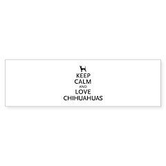 Keep Calm Chihuahuas Sticker (Bumper 50 pk)