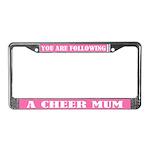Cheer Mum License Plate Frame