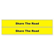 Share The Road Bicycle Frame Bumper Sticker