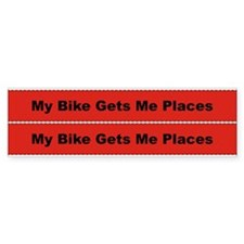 My Bike Gets Me Places Frame Bumper Sticker