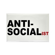 Anti Socialist Rectangle Magnet