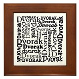 Dvorak Lover Music Framed Tile