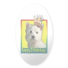 Birthday Cupcake - Westie Decal