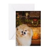 Pomeranian Holiday Card
