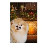 Pomeranian Holiday Postcards (Package of 8)