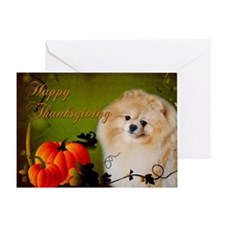 Pomeranian Thanksgiving Card