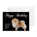 Pomeranian Birthday Card