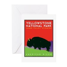 Yellowstone NP: Bison Greeting Cards (Pk of 20)