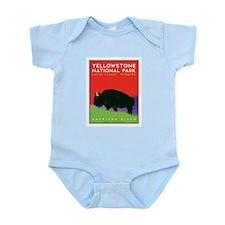 Yellowstone NP: Bison Infant Bodysuit