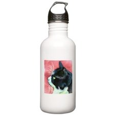 Tuxedo Cat Sports Water Bottle