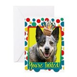 Invitation Cupcake - Cattle Dog Greeting Card