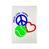 Peace, Love & Tennis Rectangle Magnet