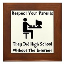 Respect Parents Internet Framed Tile