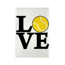 Tennis LOVE Rectangle Magnet