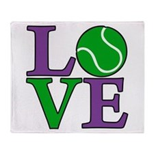 Tennis LOVE Throw Blanket
