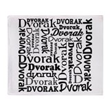 Dvorak Music Throw Blanket