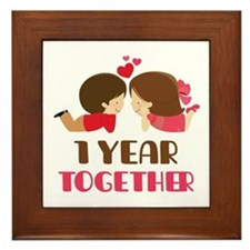 1 Year Together Anniversary Framed Tile