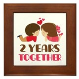2 Years Together Anniversary Framed Tile