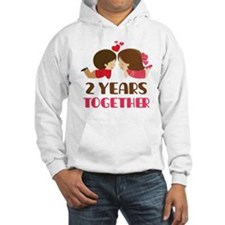2 Years Together Anniversary Hoodie