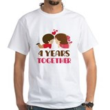 4 Years Together Anniversary Shirt