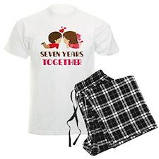 7 Years Together Anniversary Pajamas