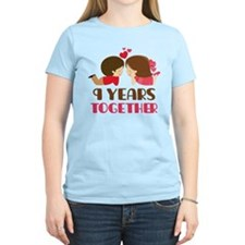 9 Years Together Anniversary T-Shirt