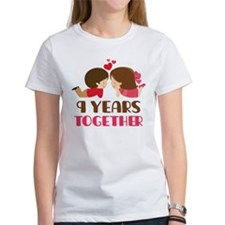 9 Years Together Anniversary Tee