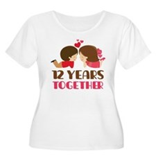 12 Years Together Anniversary T-Shirt