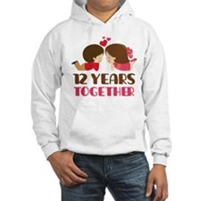12 Years Together Anniversary Jumper Hoody