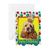 Birthday Cupcake - Cocker Spaniel Greeting Card